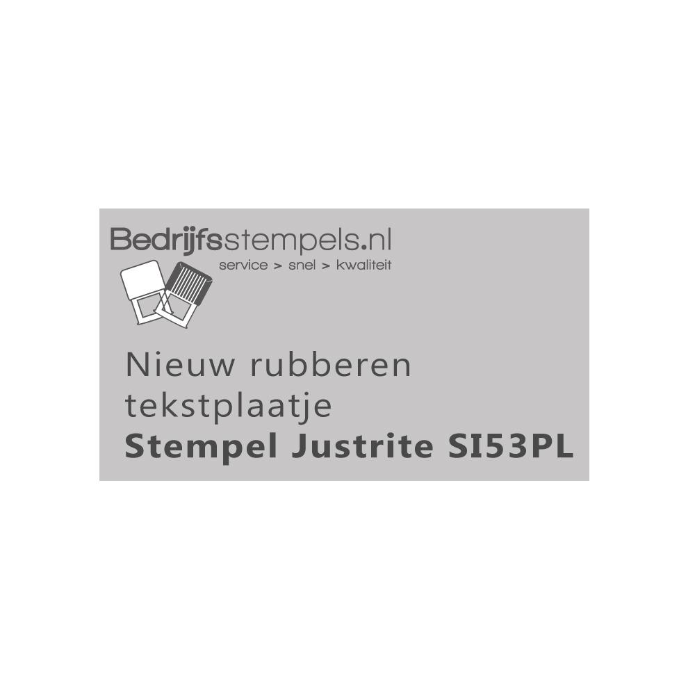 Stempelplaatje Justrite SI53PL