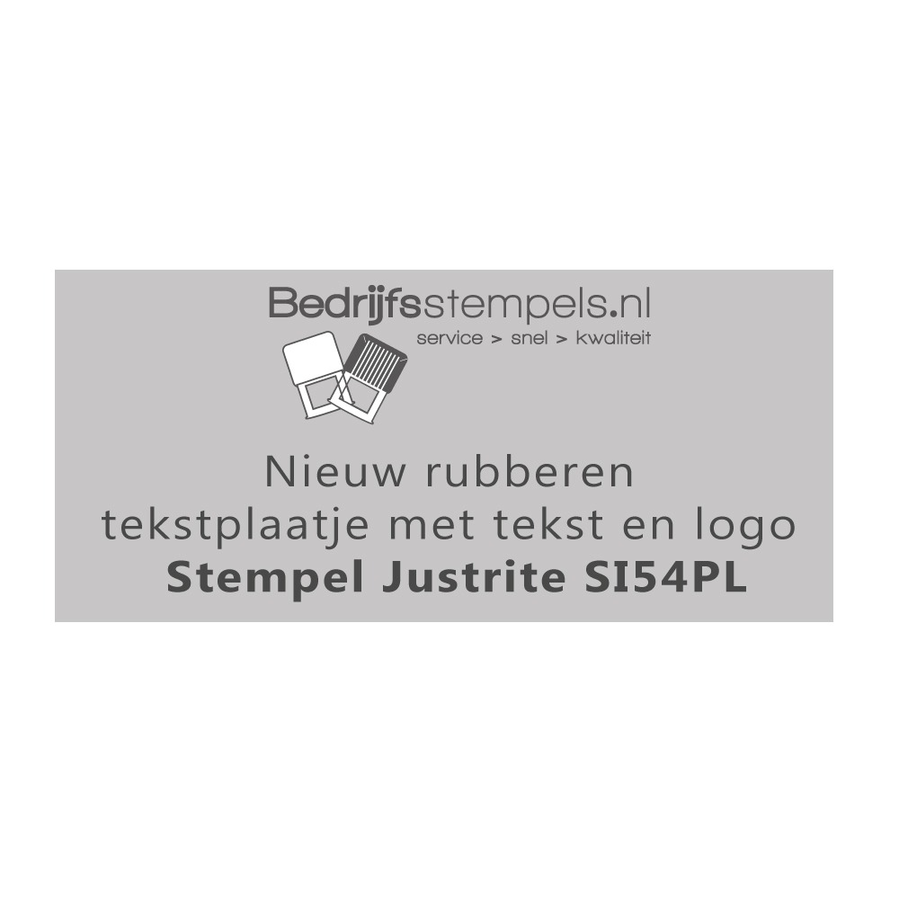 Stempelplaatje Justrite SI54PL
