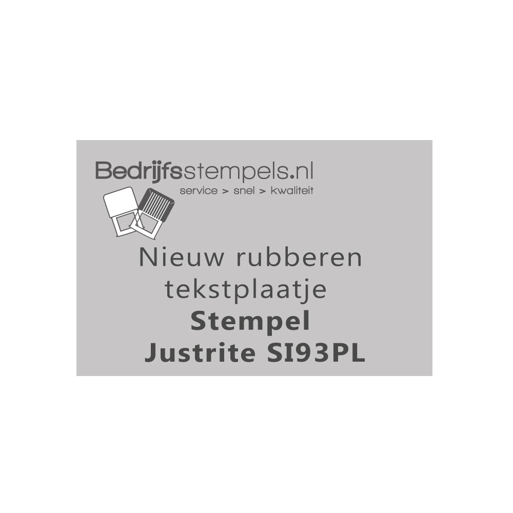Stempelplaatje Justrite SI93PL