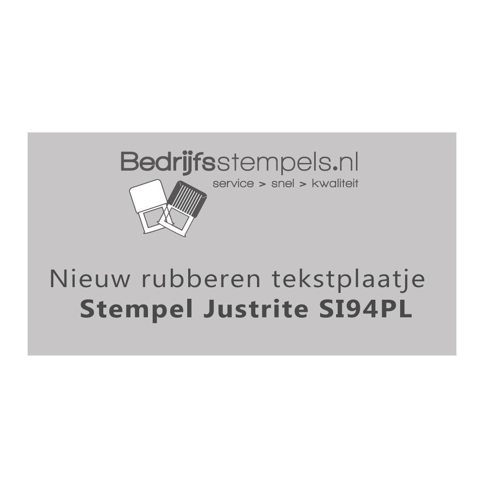 Stempelplaatje Justrite SI94PL