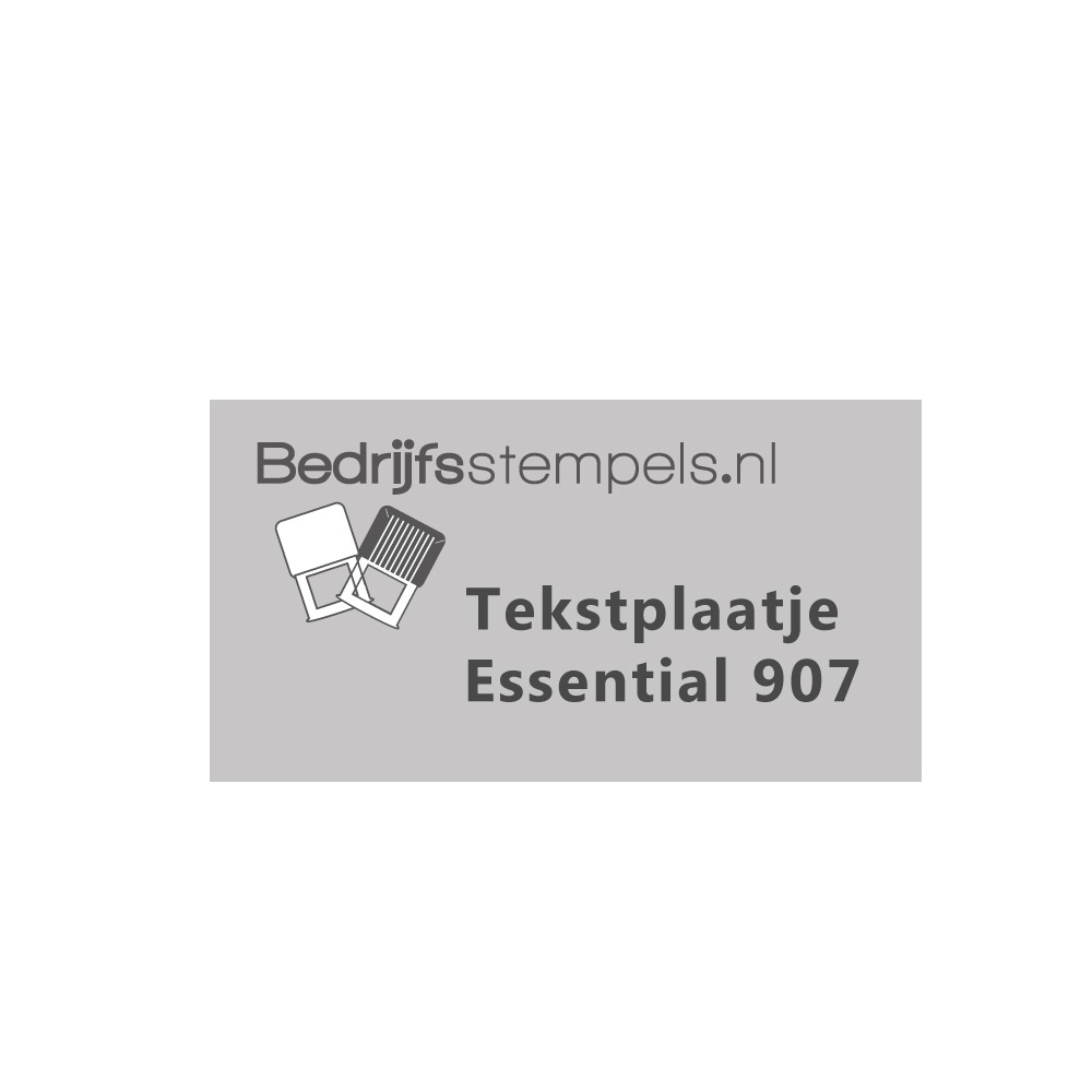 Tekstplaatje Shiny Essential 907
