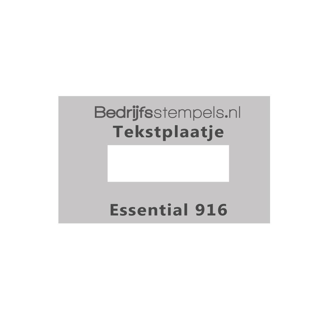 Tekstplaatje Shiny Essential 916