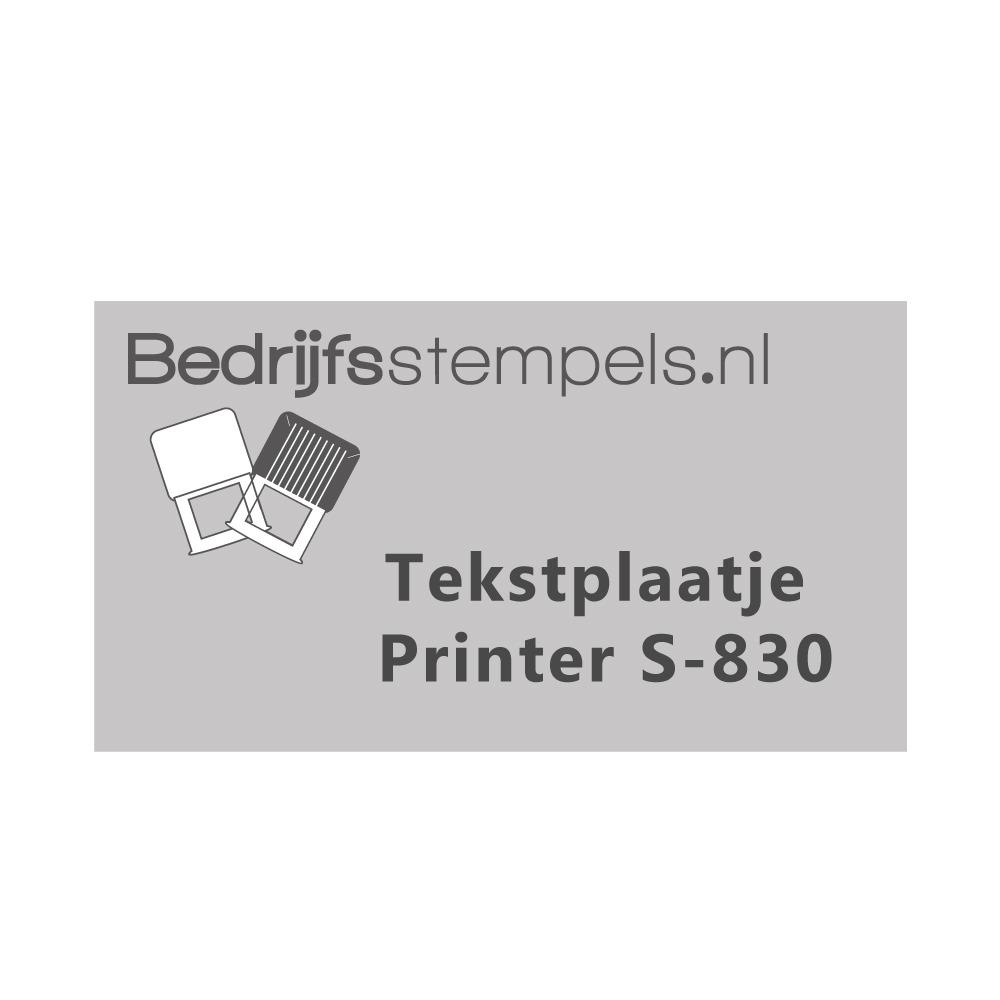 Shiny Printer S-830 tekstplaatje