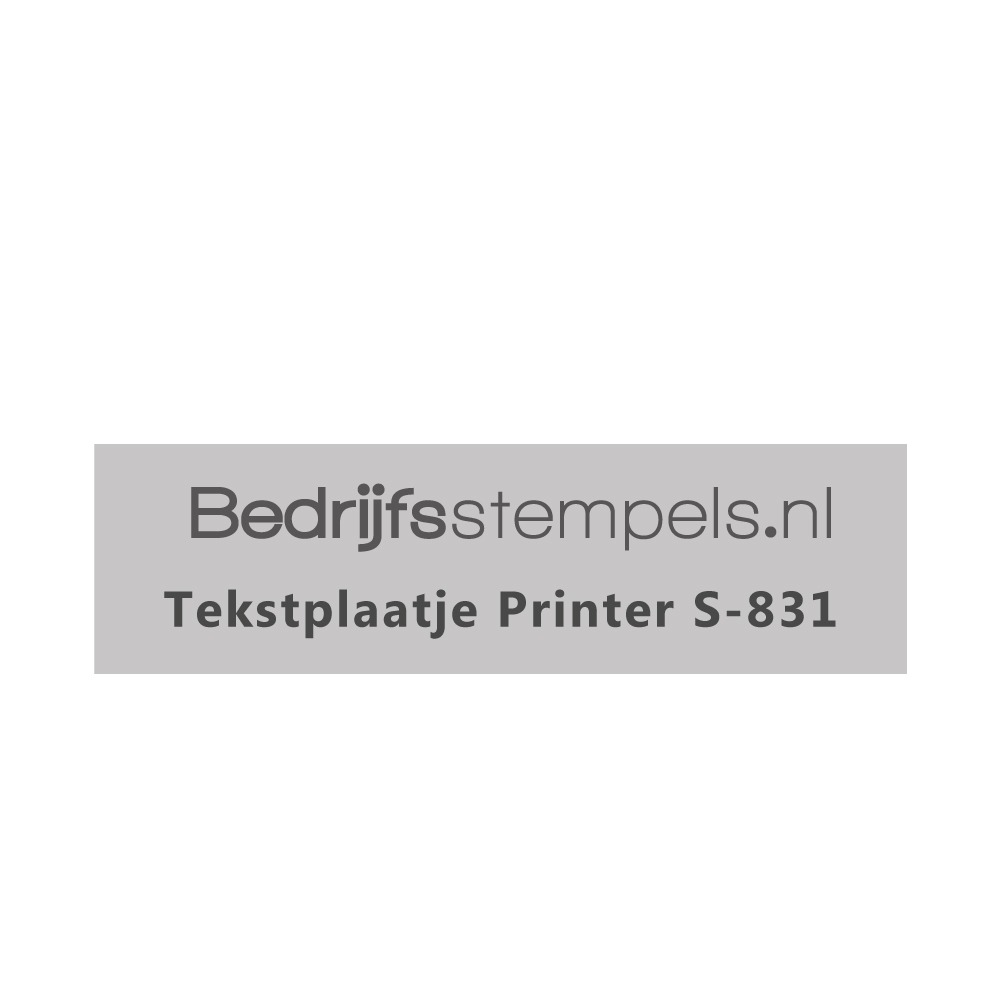 Shiny Printer S-831 tekstplaatje