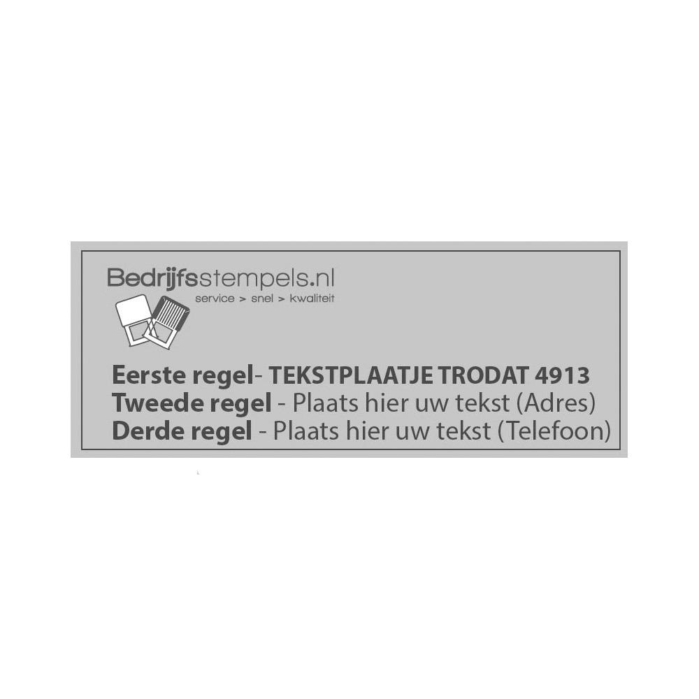 Tekstplaatje Trodat Printy 4913