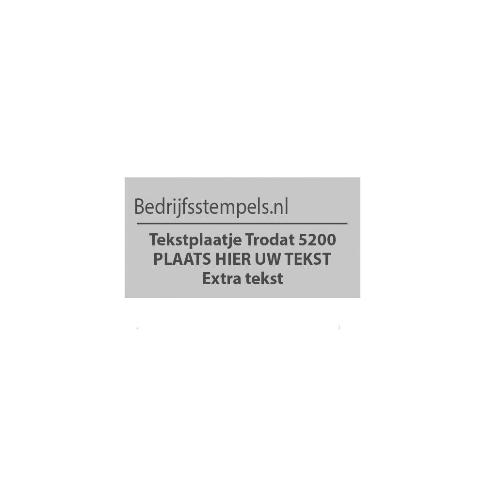Trodat Professional 5200 tekstplaatje