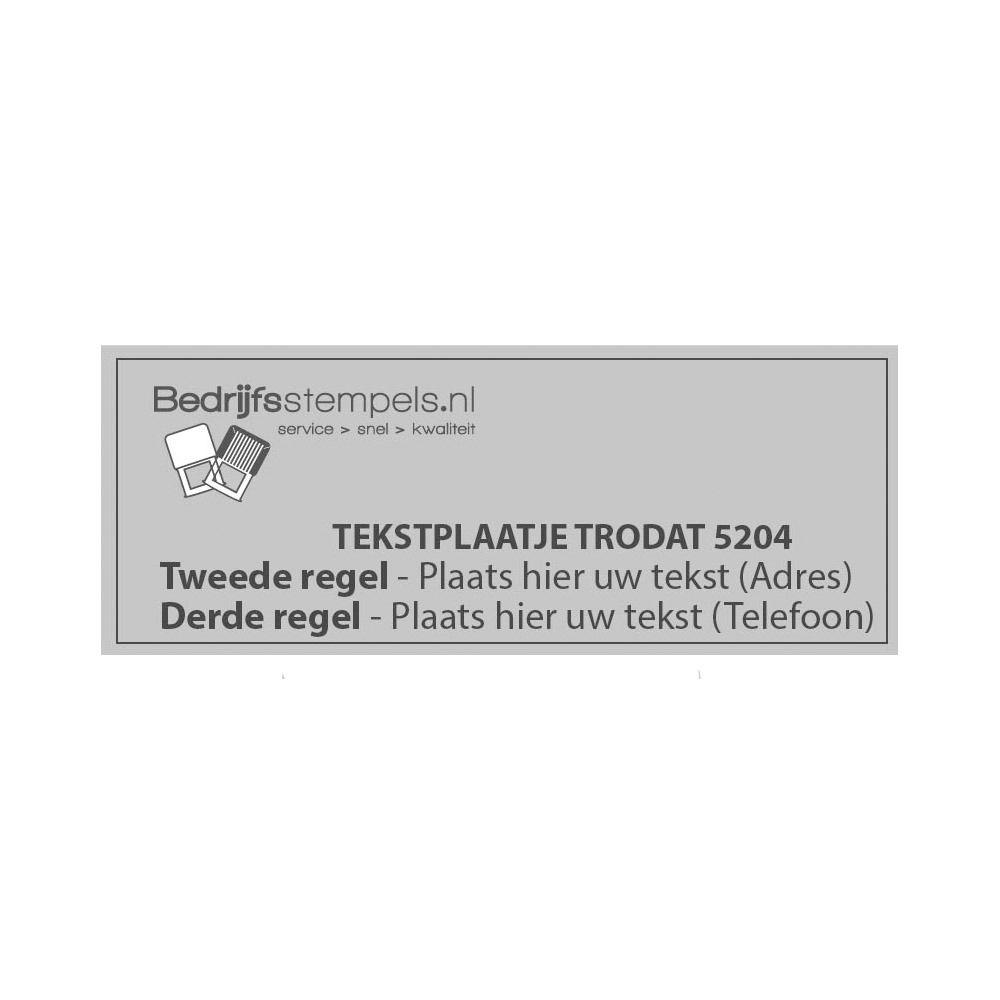 Trodat Professional 5204 tekstplaatje